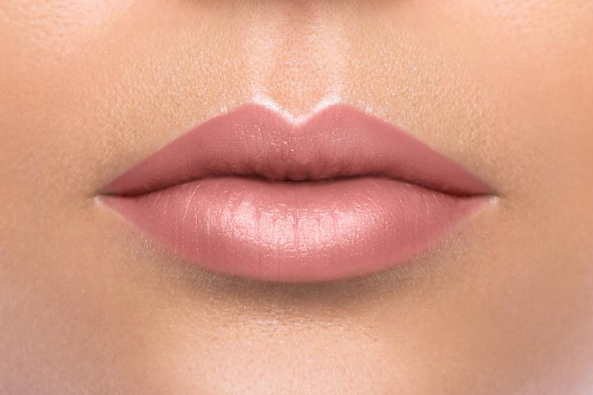 Close Up Of Beautiful Female Lips